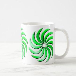 Pinwheel - green-mug coffee mug