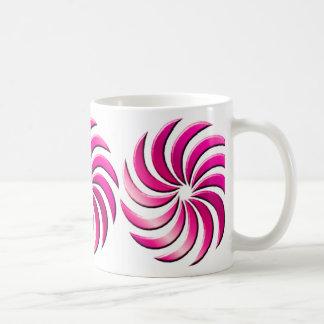 Pinwheel - hot pink-mug coffee mug