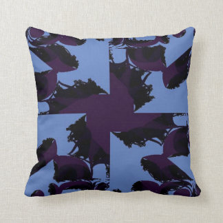 Pinwheel in Purple and Blue Throw Pillow