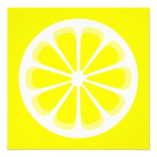 pinwheel lemon personalized invitations