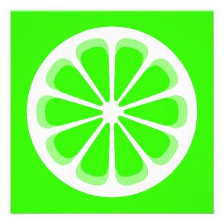 pinwheel lime custom invitations