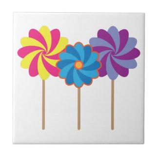 Pinwheel Lollipops Ceramic Tile
