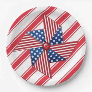 Pinwheel Memorial Day Party Paper Plates  sc 1 st  Zazzle & Pinwheel Plates | Zazzle