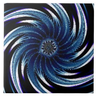 Pinwheel of Blue Tile
