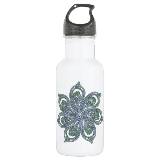Pinwheel of Paisleys Blue 18oz Water Bottle