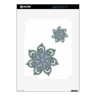 Pinwheel of Paisleys Blue Decals For iPad 2