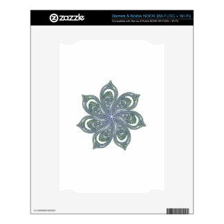 Pinwheel of Paisleys Blue NOOK Skin