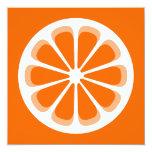 pinwheel orange custom invite