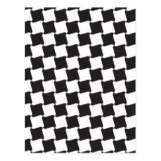 Pinwheel Pattern Postcard