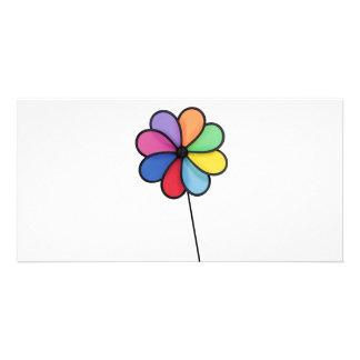 Pinwheel Photo Card Template