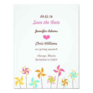 Pinwheel Picnic Wedding Save the Date Card