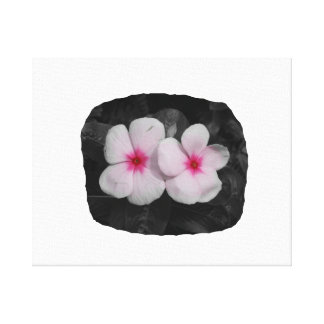 Pinwheel pink circle  flower cutout canvas print