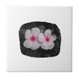 Pinwheel pink circle  flower cutout ceramic tile