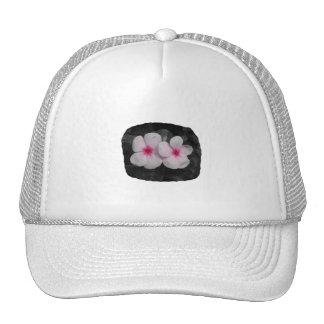 Pinwheel pink circle flower cutout mesh hat