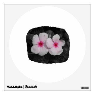 Pinwheel pink circle flower cutout room stickers