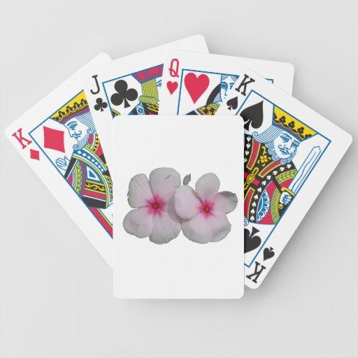 Pinwheel pink flower cutout bicycle playing cards