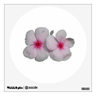 Pinwheel pink flower cutout wall decal