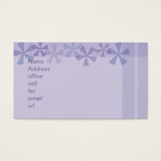 pinwheel purple business card