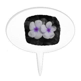 Pinwheel purple circle  flower cutout cake topper