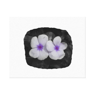 Pinwheel purple circle  flower cutout canvas print