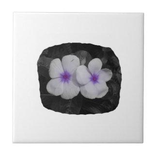 Pinwheel purple circle  flower cutout ceramic tile