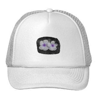 Pinwheel purple circle flower cutout mesh hat