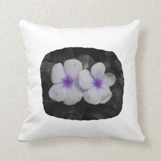Pinwheel purple circle  flower cutout throw pillow
