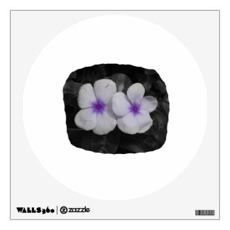 Pinwheel purple circle  flower cutout wall skins