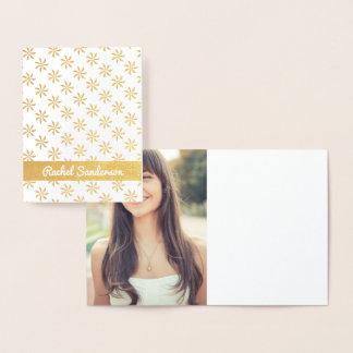 Pinwheel Real Gold Foil Bat Mitzvah Thank you Foil Card