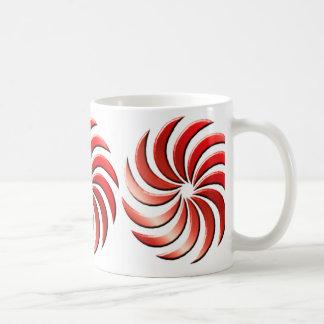 Pinwheel - red-mug coffee mug