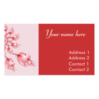 Pinwheel Valentine Business Carde Business Cards