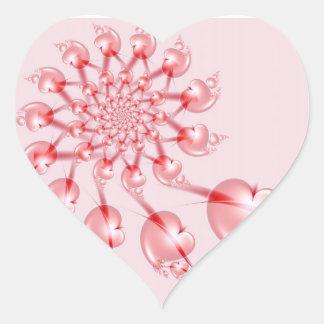 Pinwheel Valentine Pink Heart Sticker
