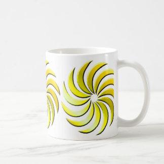 Pinwheel - yellow-mug coffee mug