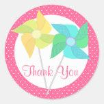 Pinwheels and Polka Dots Pink Stickers