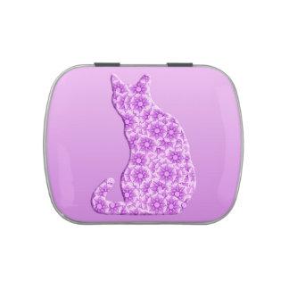 Pinwheels Cat - lavender, purple Jelly Belly Tin