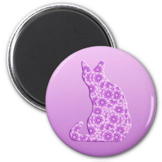 Pinwheels Cat - lavender, purple Magnet
