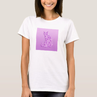Pinwheels Cat - lavender, purple T-Shirt
