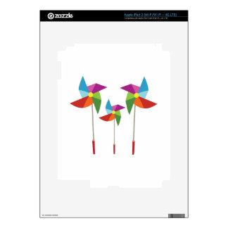 Pinwheels iPad 3 Decals
