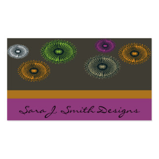 Pinwheels With Brown And Purple Business Card Templates