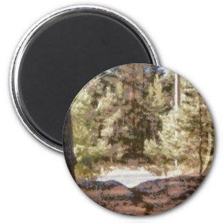 Piny forest 2 inch round magnet