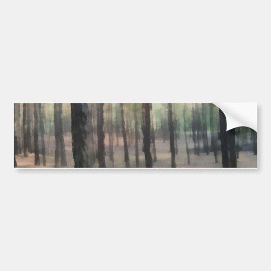 Piny forest bumper sticker