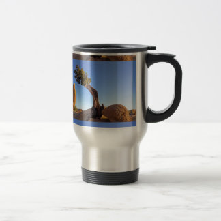 Pinyon and rock, jumbo jet of skirt, Joshua Tree n 15 Oz Stainless Steel Travel Mug