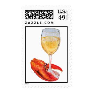 Pinza de langosta y vino sello