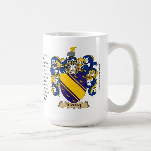 Pinzas, el origen, el significado y el escudo taza de café