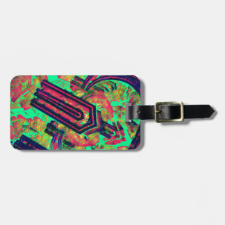 Pinzas vibratorias etiqueta de maleta