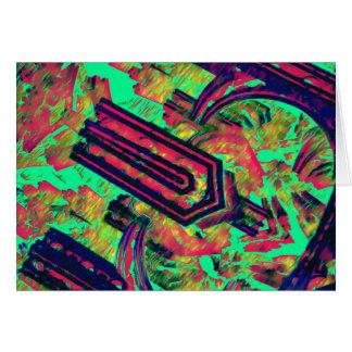 Pinzas vibratorias tarjeta de felicitación