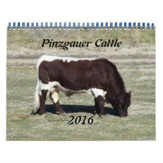 Pinzgauer 2016 Calendar2-customize el año Calendarios