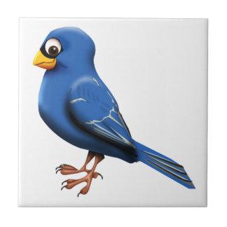 Pinzón azul azulejo cuadrado pequeño