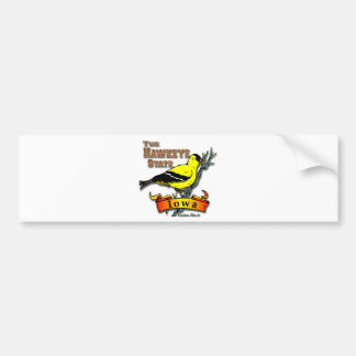 Pinzón de Iowa Hawkeye Pegatina Para Auto