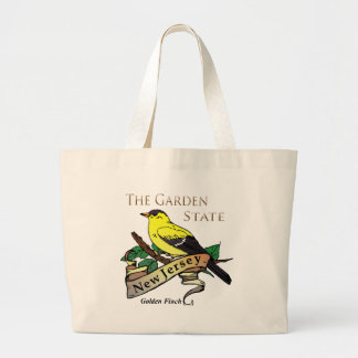 Pinzón de oro del estado jardín de New Jersey Bolsa Tela Grande